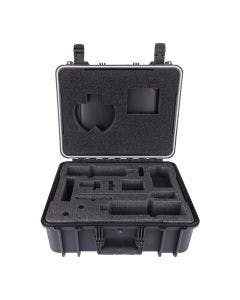 Black, heavy-duty confined space kit for the BW Ultra gas detector with cut-out custom foam.