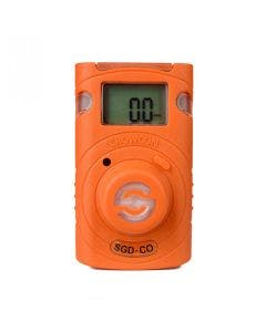Crowcon Clip SGD - Carbon Monoxide, bright orange casing on a single gas detector