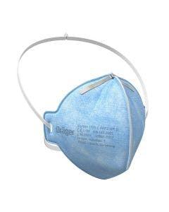 Blue Drager X-plore 1720 C FFP2 NR D Disposable Face Mask with white strap