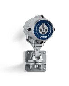 Stainless Steel Triple IR Detector with blue label to identify the type.