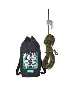 MSA Rope Grab Easy Move, Black bag with Green Lifeline