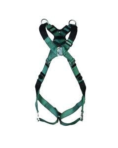 MSA V-FORM HARNESS - 10206046. Front facing harness in green with metal buckle