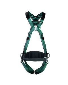 MSA V-FORM Harness, front-facing in green with metal buckle