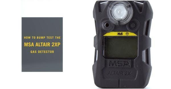 How Do I Bump Test the MSA ALTAIR 2XP?